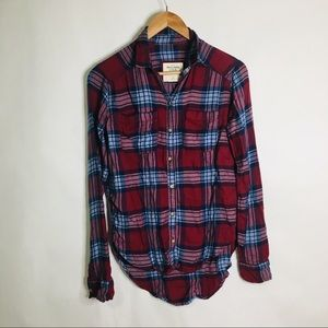 Abercrombie & Fitch long sleeved flannel top